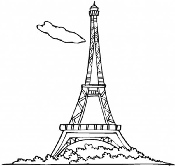 600x569 Eiffel Tower Picture Coloring Page Eiffel Tower Picture Coloring