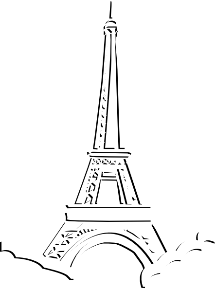 444x596 Image Of Eiffel Tower Clip Art