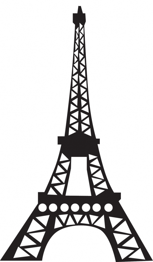 how to draw a simple eiffel tower