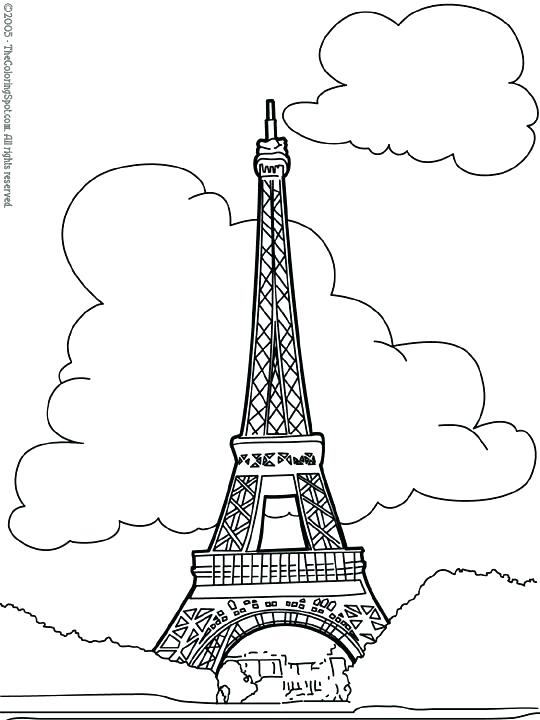 540x720 Unique Eiffel Tower Coloring Pages Free Download Printable