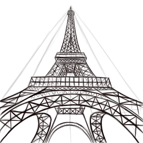 500x500 Draw The Eiffel Tower Outlines And French Classroom