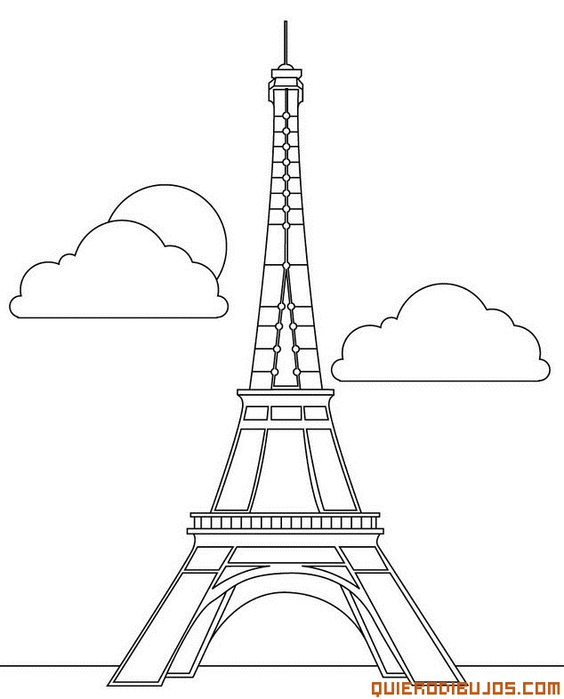 634x786 Dibujos Para Colorear De La Torre Eiffel Dibujos Torre Eifel