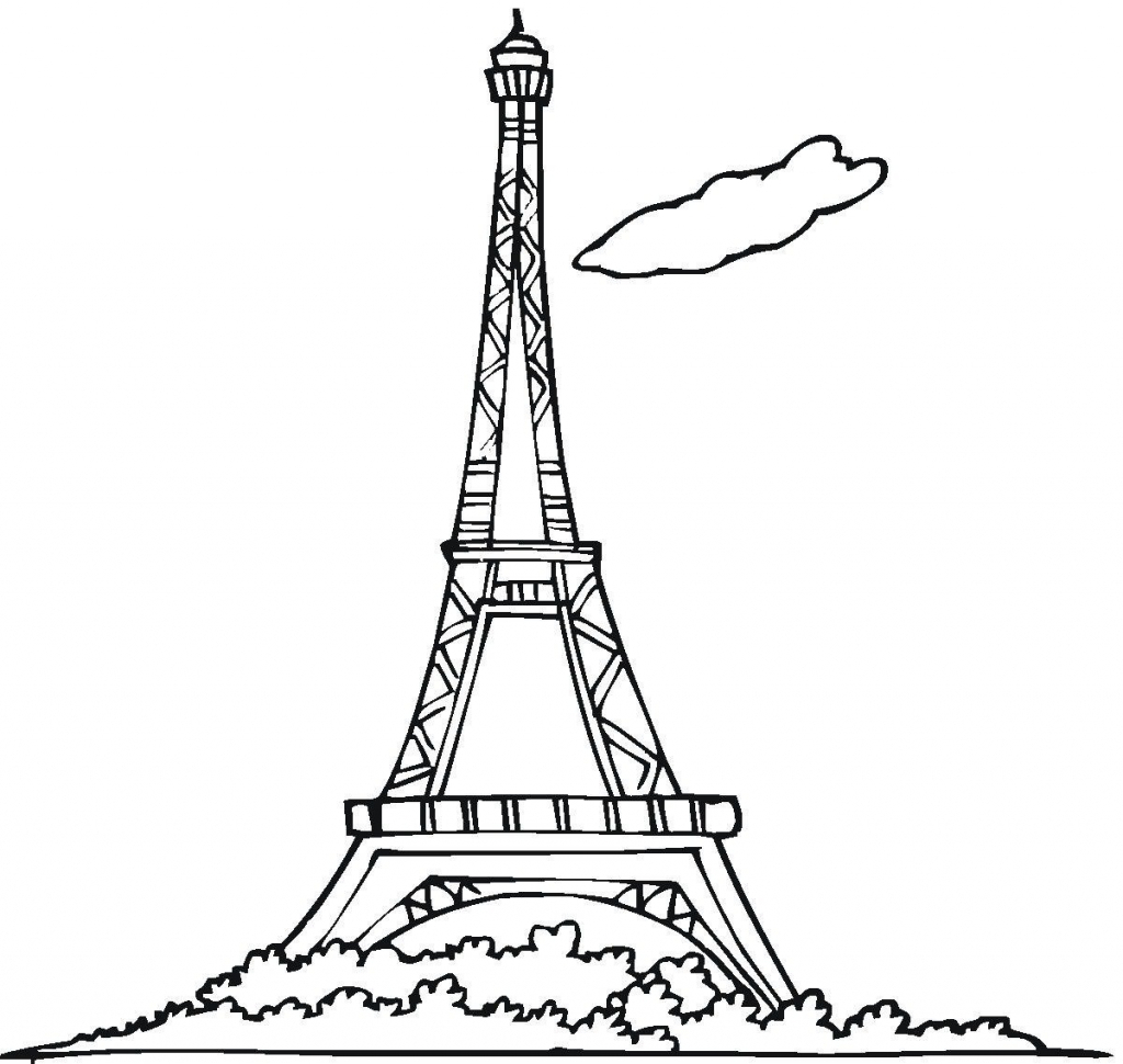 Eiffel Tower Drawing Sketch