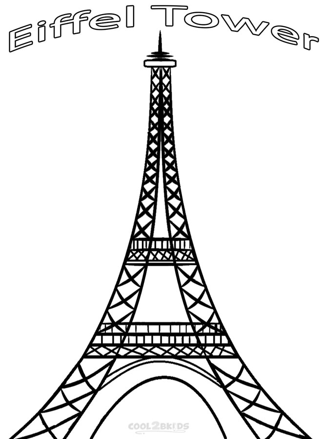 Eiffel Tower Line Drawing