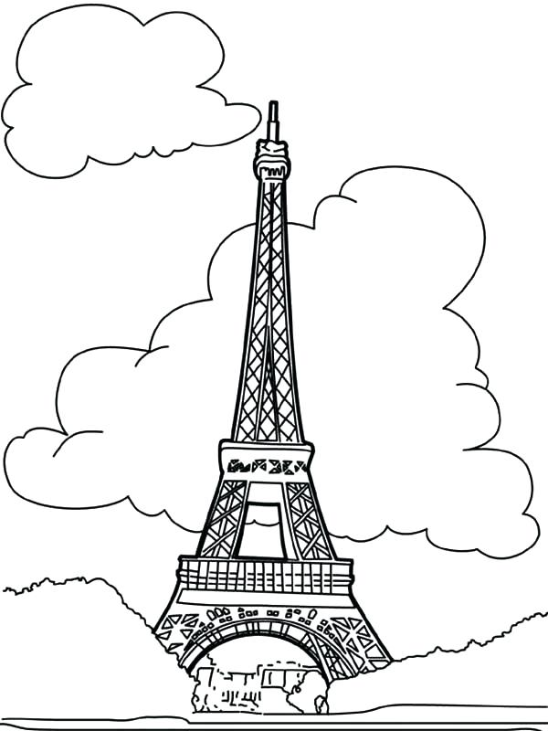 600x800 Eiffel Tower Coloring Pages Pretty Drawing Of The Tower U Can Tell
