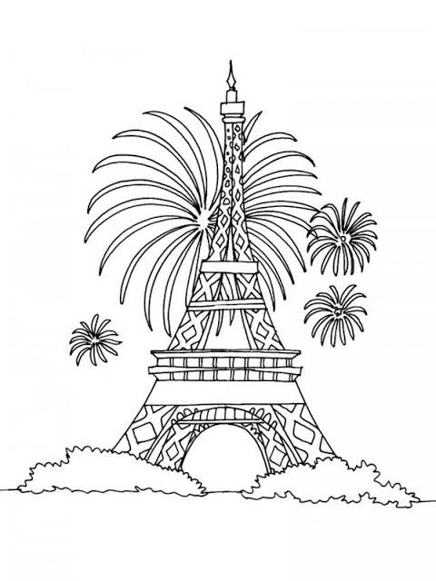 480x640 Eiffel Tower Line Drawing