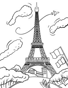236x305 Best Printable Eiffel Tower Coloring Pages