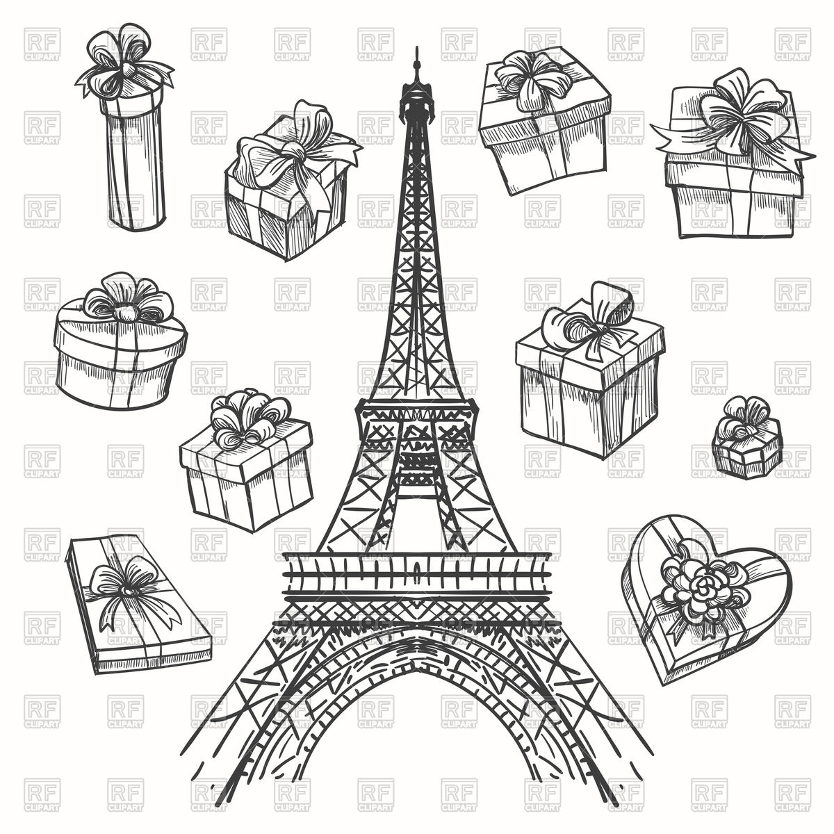 1200x1200 Gifts And Eiffel Tower