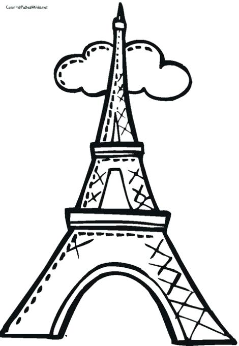 470x681 Idea Eiffel Tower Coloring Pages And Drawn Tower Kid 5 42 Eiffel