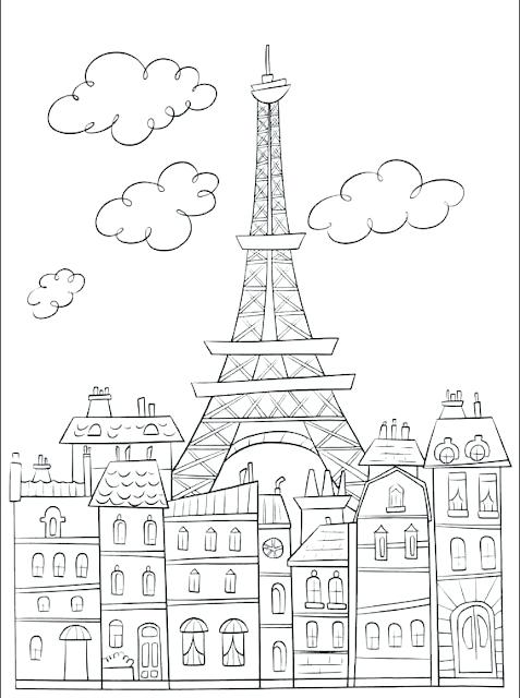 477x640 Paris Eiffel Tower Coloring Pages Art Galleries In At Book Best