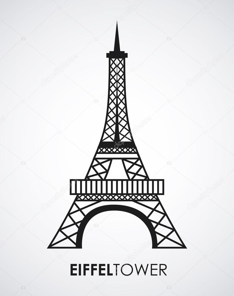 810x1023 Eiffel Tower Stock Vector Yupiramos
