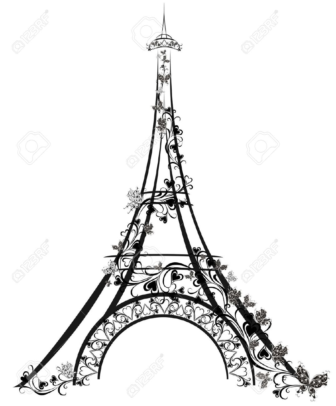 1076x1300 tower live clipart