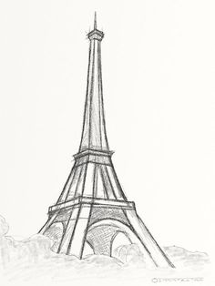 Eiffel Tower Sketch Drawing