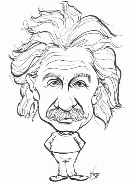 438x600 Celebrity Caricature Gallery Of Albert Einstein