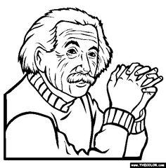 236x240 Albert Einstein Coloring Pages Albert Einstein Who Firmly Coloring