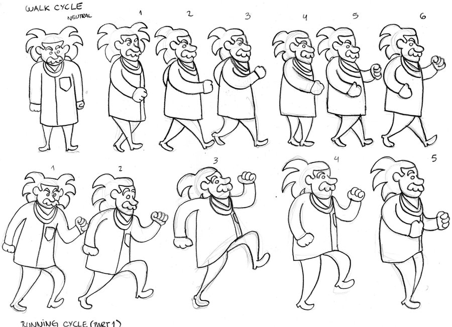 900x652 Walking Cyclecartoon Einstein By Avcf