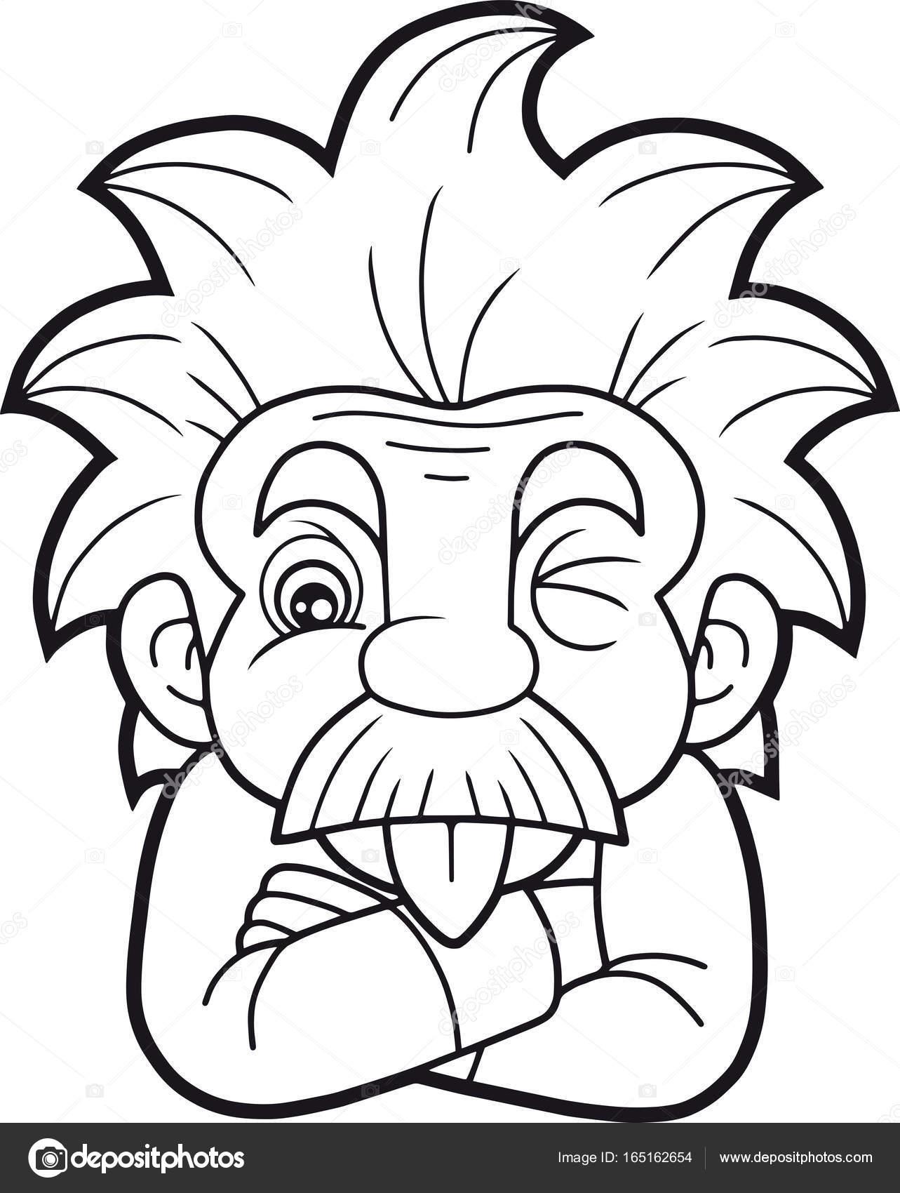 1283x1700 Funny Einstein Shows His Tongue Stock Vector Fargon