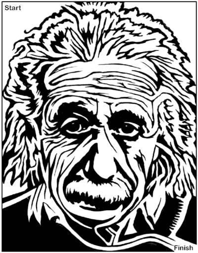 400x509 Albert Einstein Maze