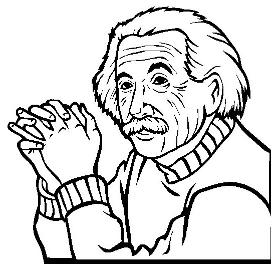 541x553 Albert Einstein That Handheld Hand Coloring Pages Photos A New