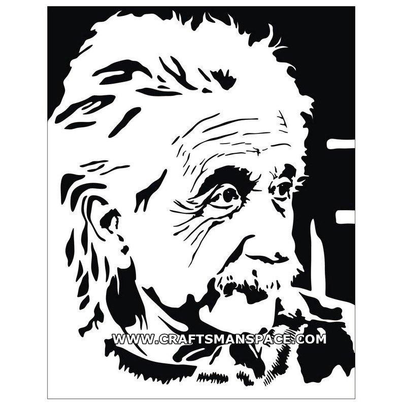 800x800 Albert Einstein Vector Pattern