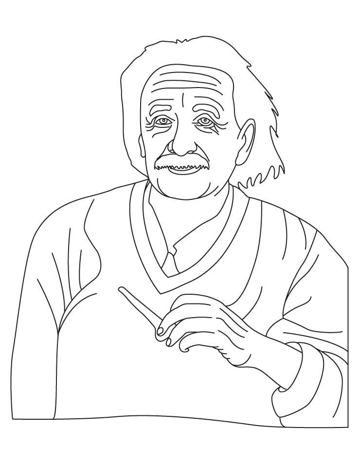 738x954 Albert Einstein Coloring Pages Download Free Albert Einstein