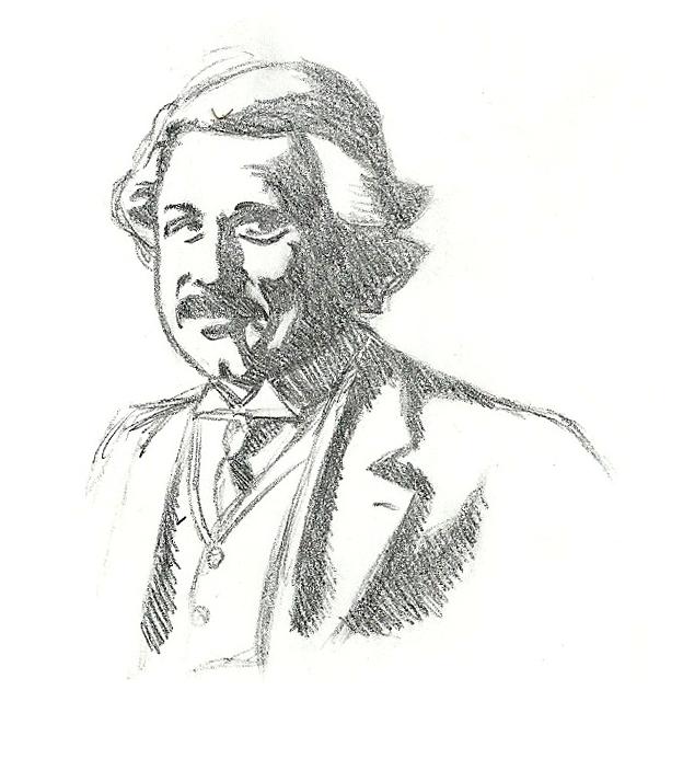 624x693 Albert Einstein Sketch By Cagscreations