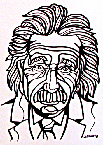 353x500 Einstein New Line Drawing Soon To Be Added To My Etsy