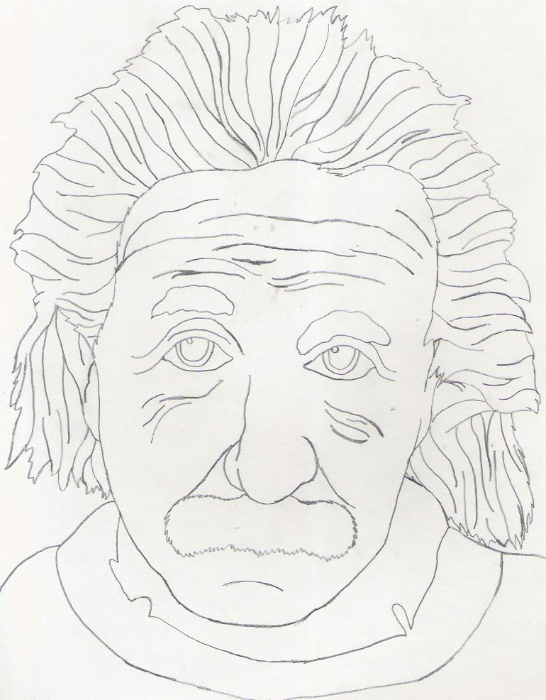 770x986 Einstein Sketch By Squeaky The Zepa