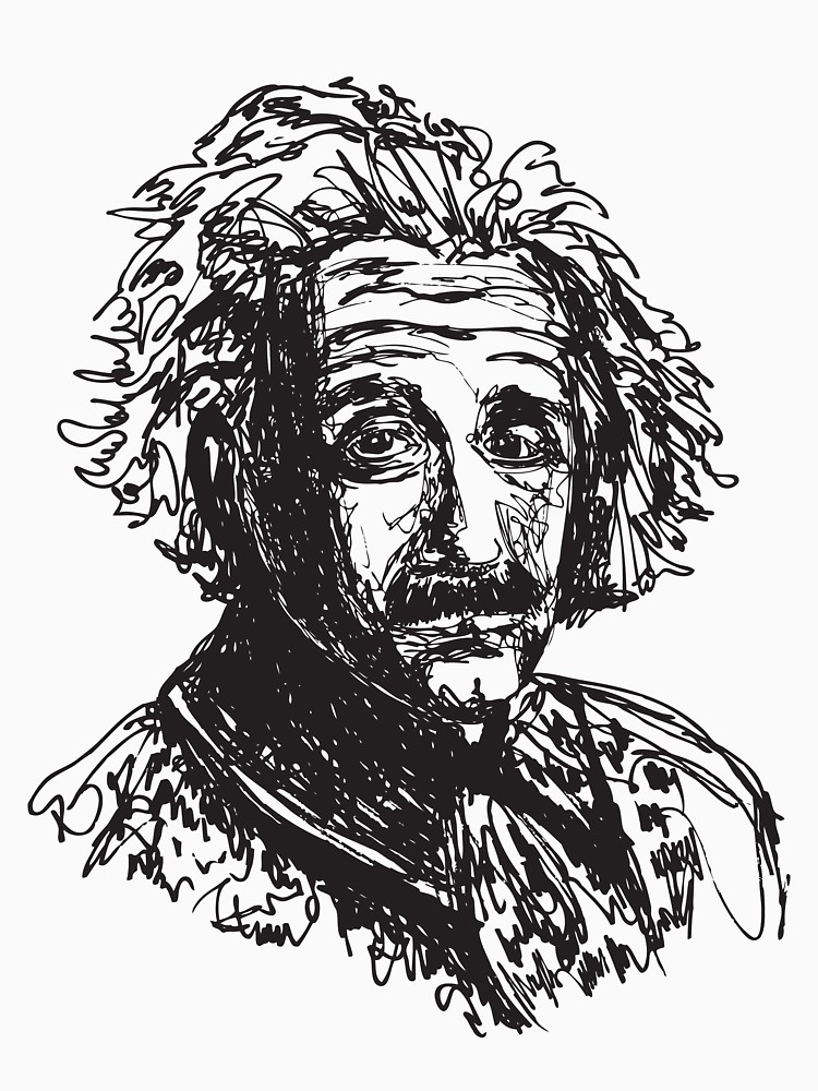 750x1000 Icon Einstein Women's Fitted Scoop T Shirt By Bdalke Redbubble