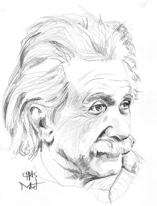 600x789 Albert Einstein Pencil Art Albert Einstein