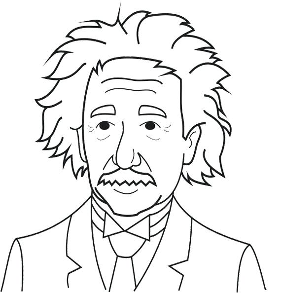 570x594 Albert Einstein Coloring Pages Coloring Page Albert Einstein
