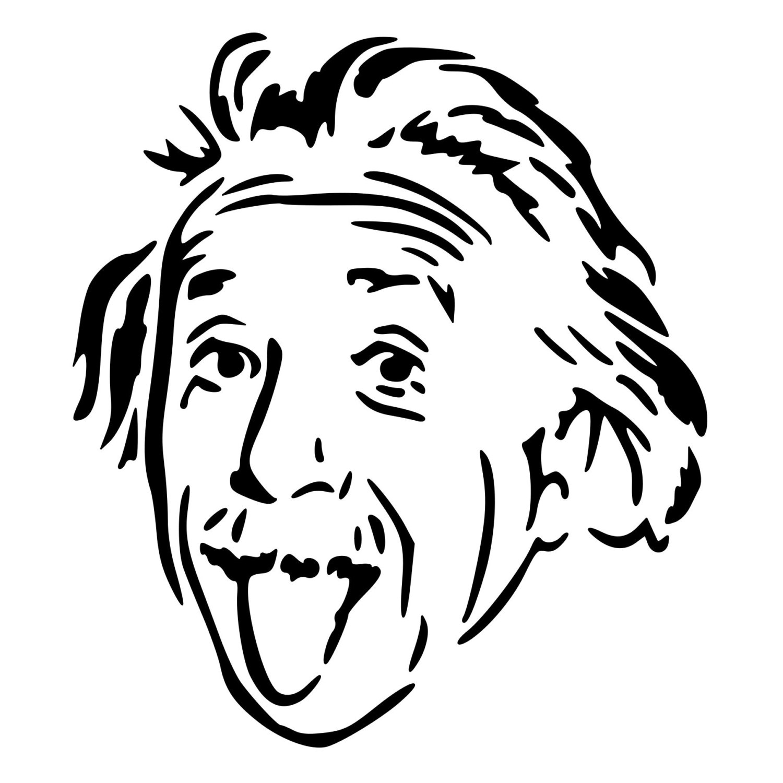 1500x1500 Albert Einstein Die Cut Decal Car Window Wall Bumper Phone
