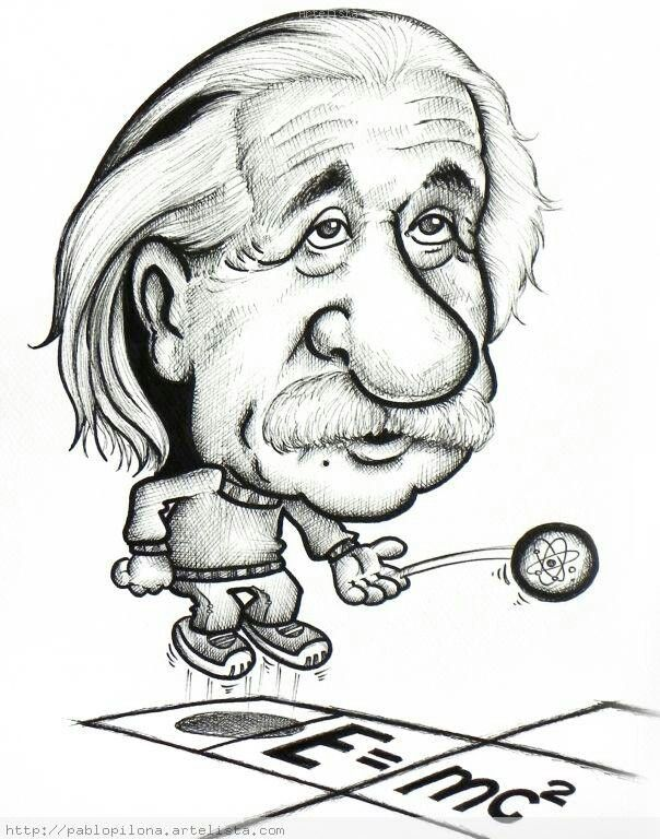 Einstein Drawing Cartoon