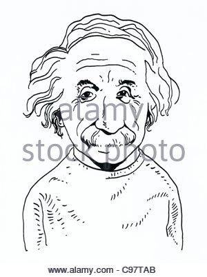 300x402 Albert Einstein With A Atom Stock Photo 19114732
