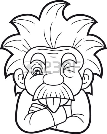 361x450 Cartoon Funny Einstein Shows His Tongue Royalty Free Cliparts