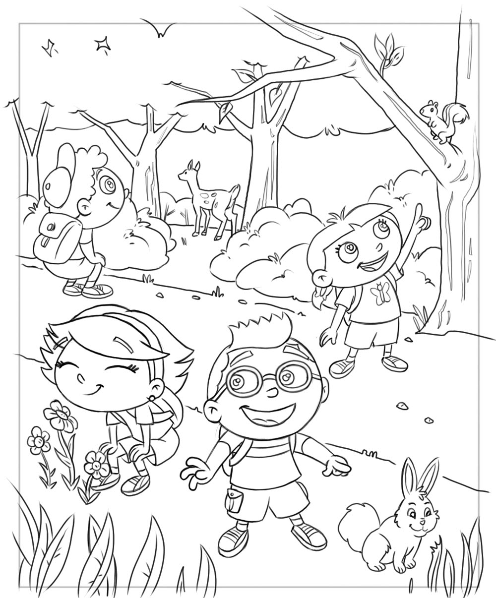1000x1206 Little Einsteins Coloring Pages In The Jungle