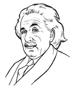 236x282 Albert Einstein Coloring Pages