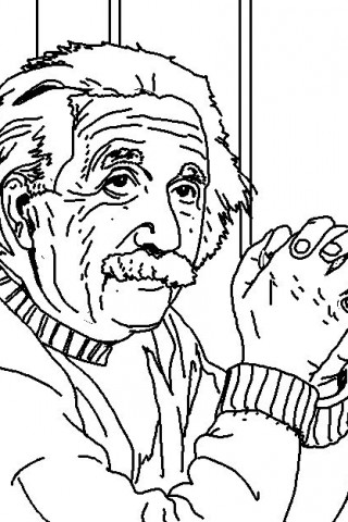 320x480 Albert Einstein Coloring Pages For Kids Printable Pictures