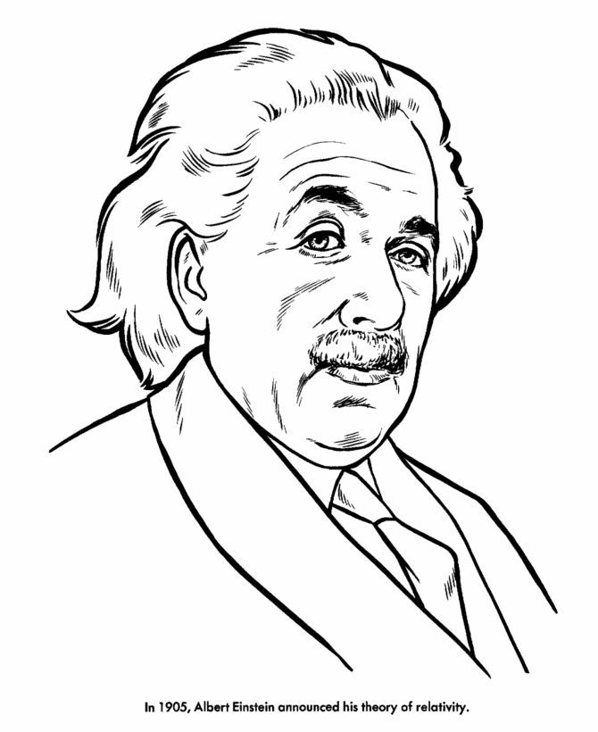 670x820 Albert Einstein Coloring Sheets Coloring Page For Kids