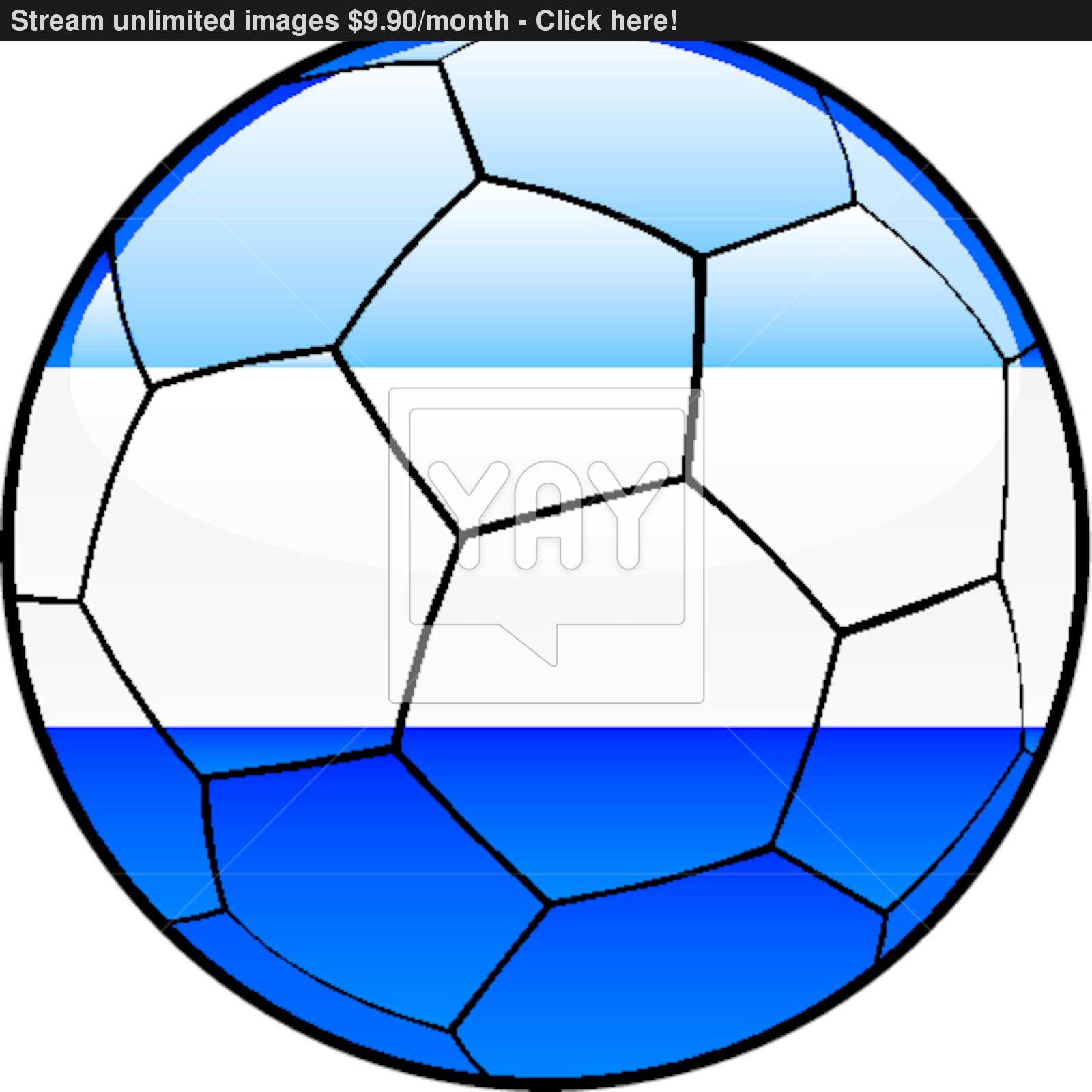 1600x1600 El Salvador Flag On Soccer Ball Vector