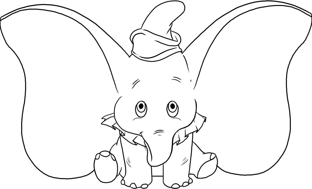 1274x773 Coloring Pages Of Cute Elephants Elephant Face Coloring Page