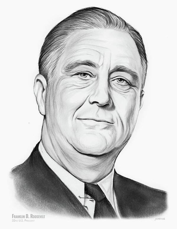 599x776 Fdr Drawings Fine Art America