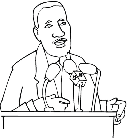 443x480 Martin Luther King Jr. Coloring Page Free Printable Coloring Pages