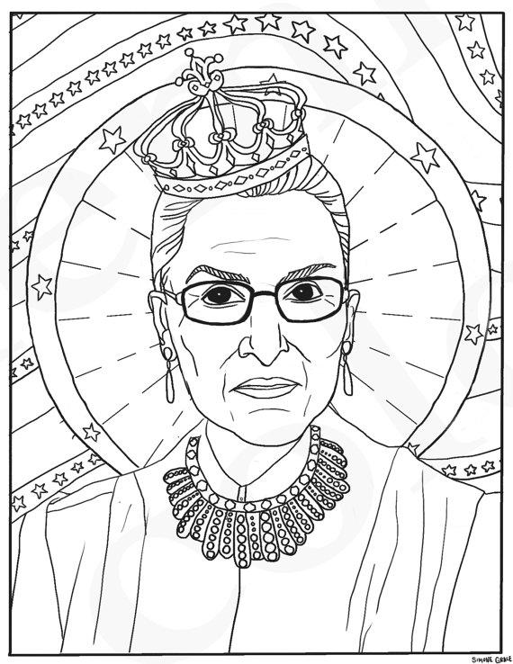 570x738 Ruth Bader Ginsburg Rbg Supreme Court Justice Feminist