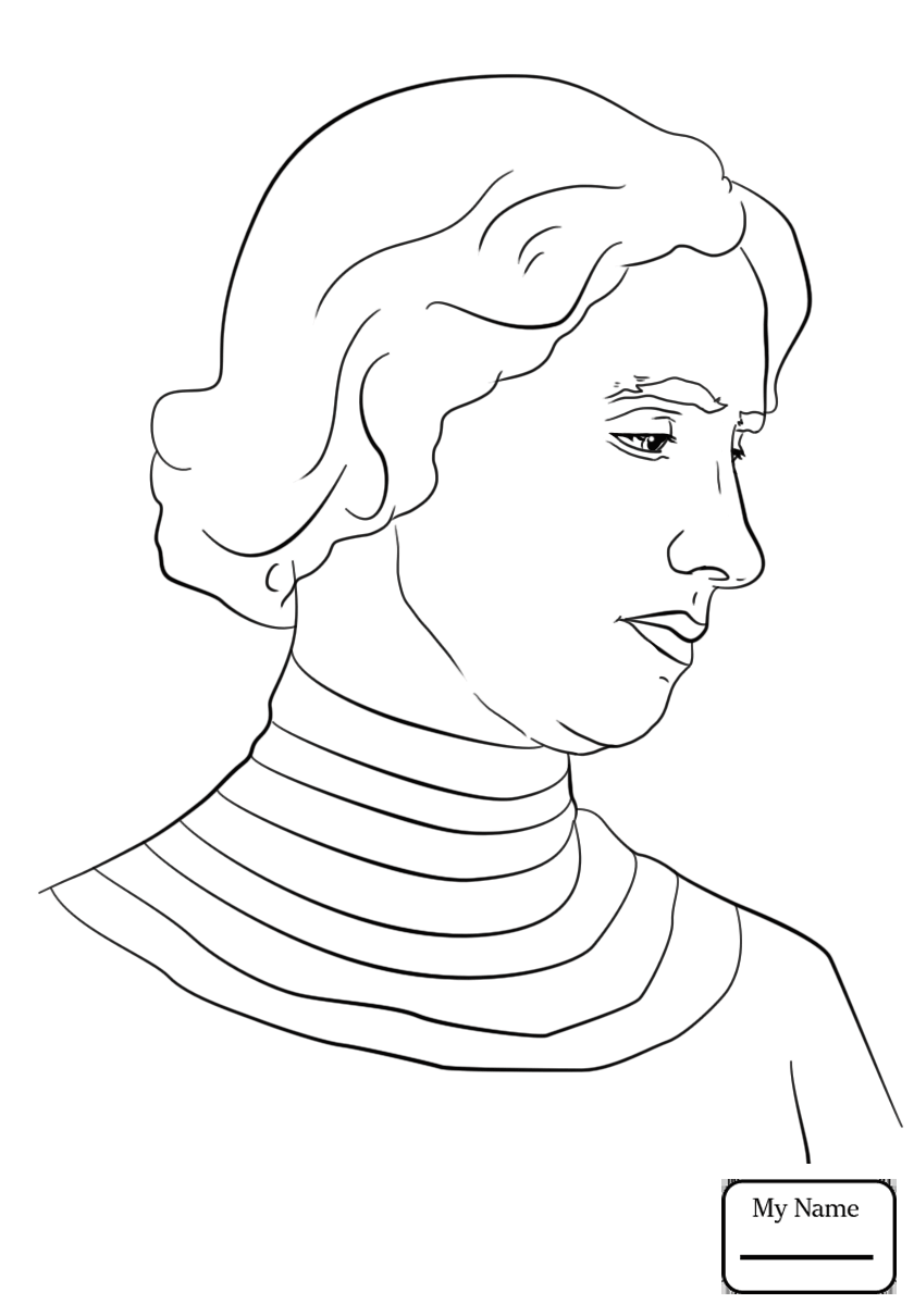 840x1210 Coloring Pages Eleanor Roosevelt Famous People People