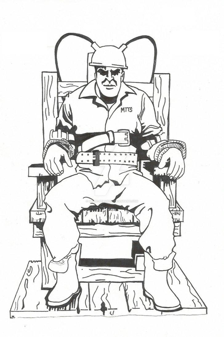 728x1098 Electric Chair Ink Wip1 By Blaze Belushi