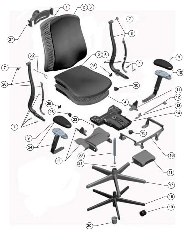 600x756 Herman Miller Celle Chair Parts