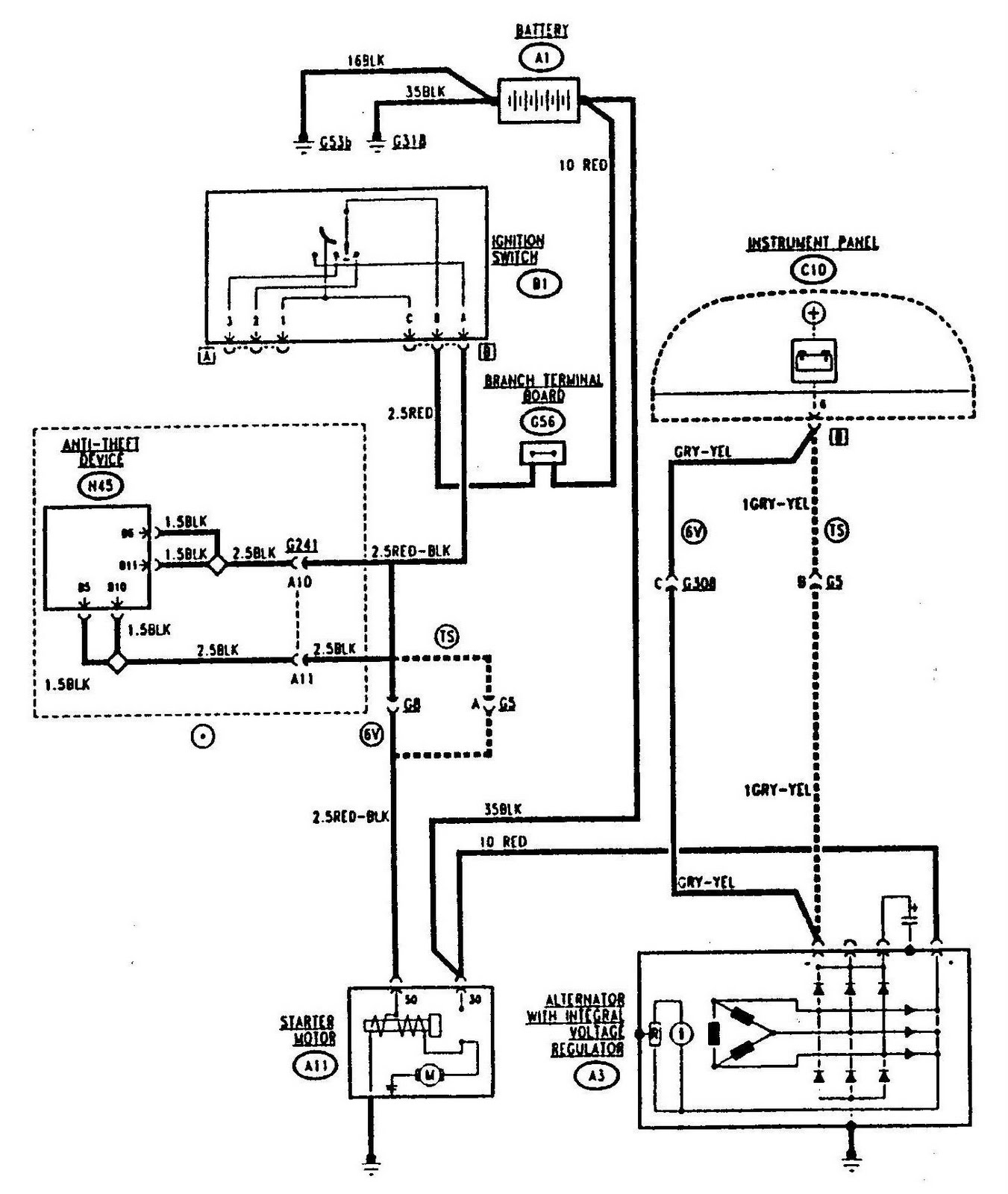 Electric Circuit Drawing At Free For Personal Use Volvo 240 Cruise Control Wiring Diagram 1351x1600 Alfa Romeo 155 Starting And Charging Wiringdiagrams