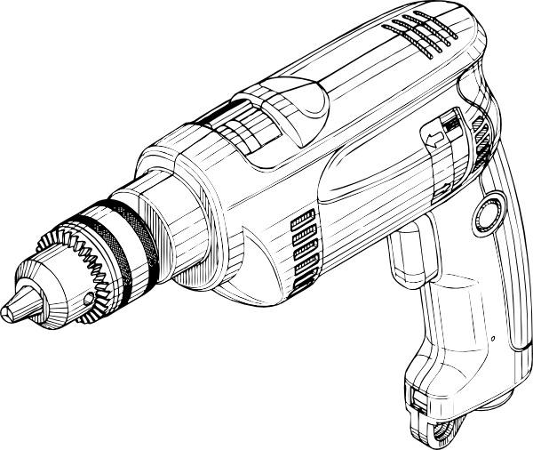 600x506 Electric Drill Clip Art Free Vector In Open Office Drawing Svg