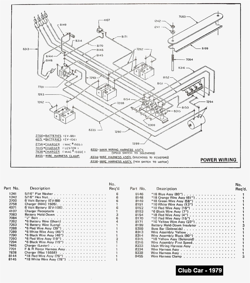 Electric Drawing on Yamaha Golf Cart Charger Wiring Diagram